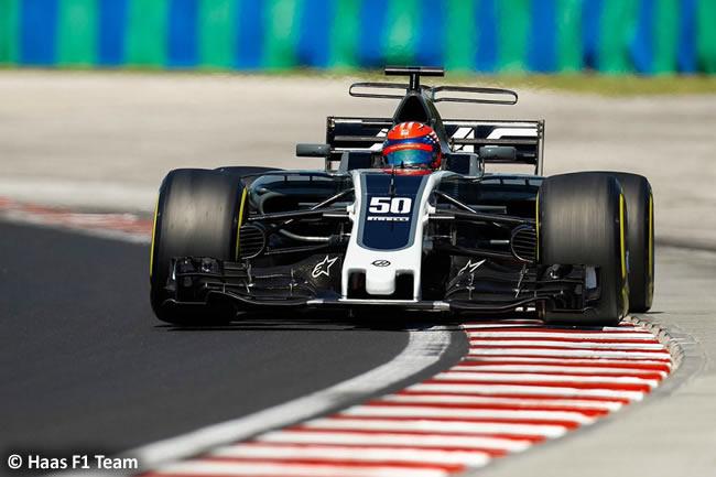 Santino Ferrucci - Haas - Test temporada Hungría - Día 1