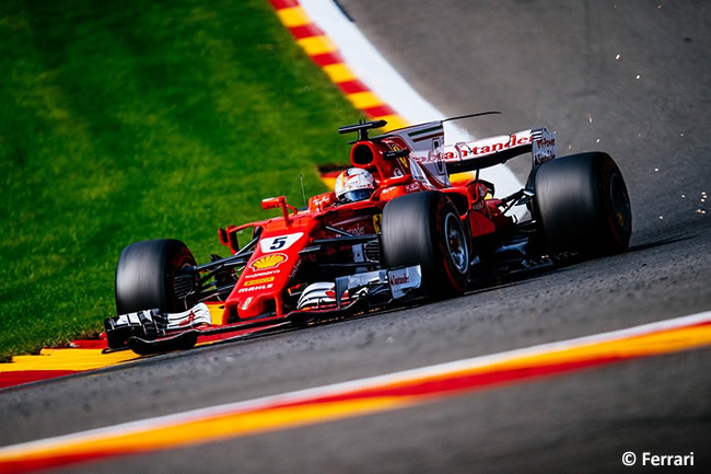 Sebastian Vettel - Scuderia Ferrari - GP Bélgica 2017 - Calificación