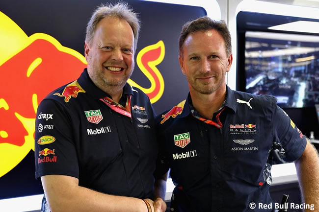 Andy Palmer - Aston Martin-Christian Horner - Red Bull Racing