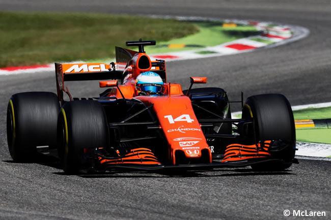Fernando Alonso - McLaren - Carrera - GP Italia 2017