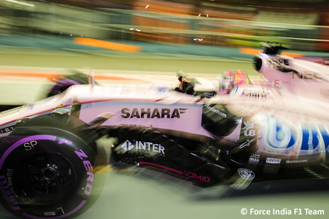 Force India - Calificación GP Singapur 2017
