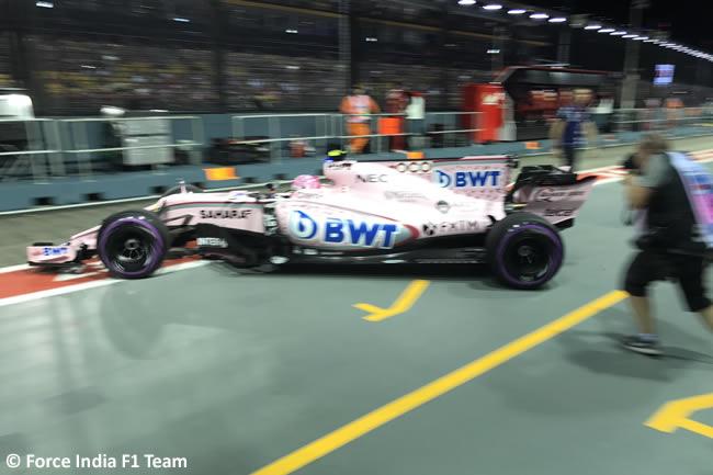 Force India- GP Singapur 2017 - Entrenamientos