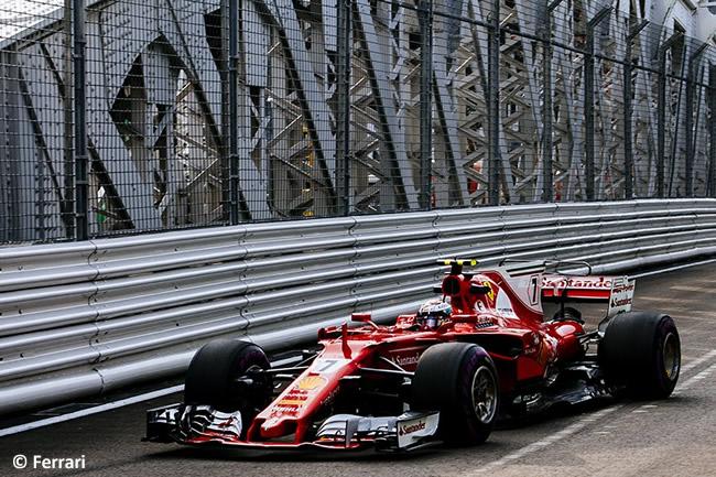 Kimi Raikkonen - Scuderia Ferrari - GP Singapur 2017 - Entrenamientos