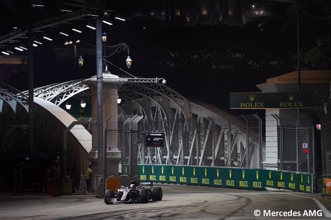 Lewis Hamilton - Mercedes AMG - GP Singapur 2017 - Entrenamientos