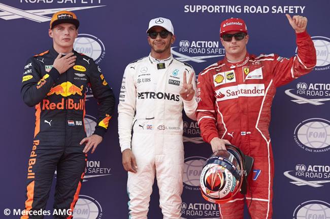 Lewis Hamilton - Mercedes AMG - pole - Kimi Raikkonen - Scuderia Ferrari - Mx Verstappen - Red Bull Racing - Calificación - GP Malasia 2017