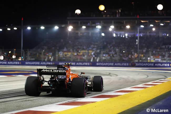 McLaren - Calificación GP Singapur 2017