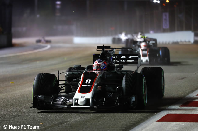 Romain Grosjean - Haas - Carrera - GP Singapur 2017