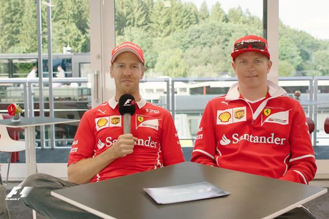Sebastian Vettel - Kimi Raikkonen - Scuderia Ferrari - Grill the Grid - F1 - Fórmula 1 - Youtube