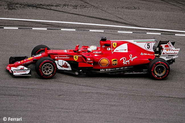 Sebastian Vettel - Scuderia Ferrari - GP Malasia 2017 - Entrenamientos