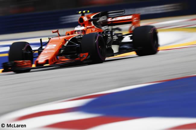 Sotffel Vandoorne - McLaren - GP Singapur 2017 - Entrenamientos
