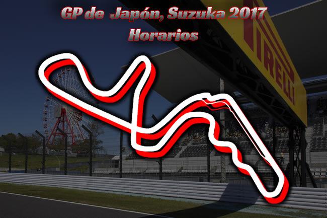 Horarios - Gran Premio Japón 2017
