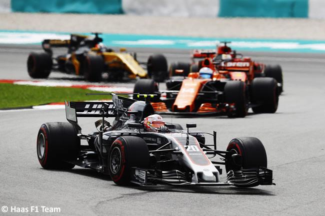Kevin Magnussen - Haas - Carrera GP Malasia 2017