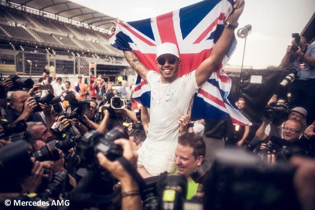 Lewis Hamilton - Campeón 2017 - GP México 2017 - Tetracampeón
