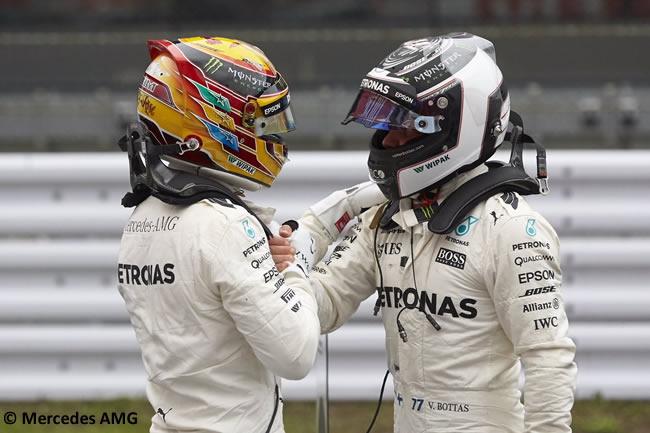 Lewis Hamilton - Valtteri Bottas - Mercedes AMG - Calificación GP Japón 2017