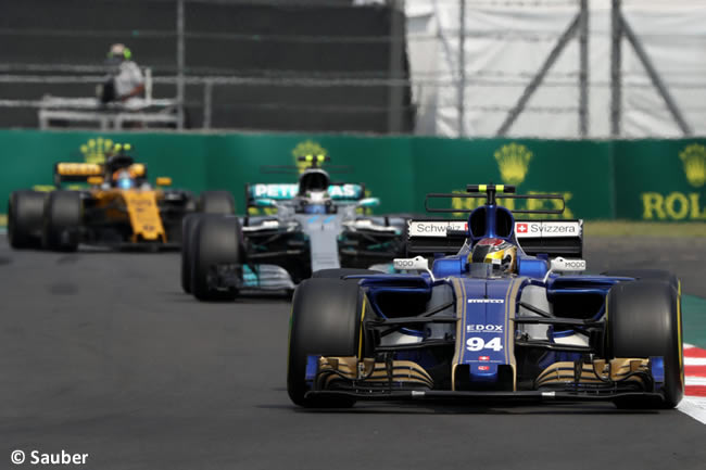 Pascal Wehrlein - Sauber - Carrera - GP México 2017