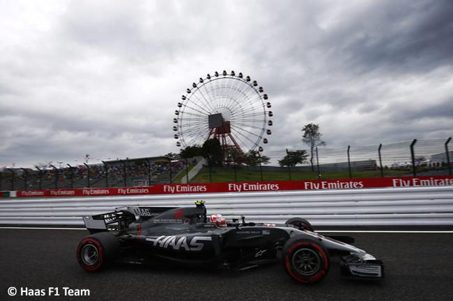Romain Grosjean - Haas - Entrenamientos GP Japón 2017