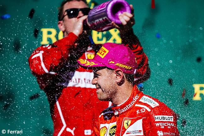 Sebastian Vettel - Kimi Raikkonen - Scuderia Ferrari - Carrera - GP Estados Unidos 2017