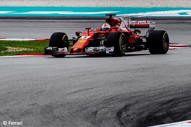 Sebastian Vettel - Scuderia Ferrari - Carrera GP Malasia 2017