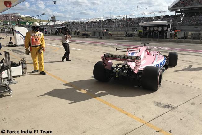 Sergio Pérez - Force India - Calificación- GP Estados Unidos 2017