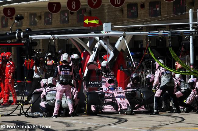 Sergio Pérez - Force India - Carrera - GP Estados Unidos 2017