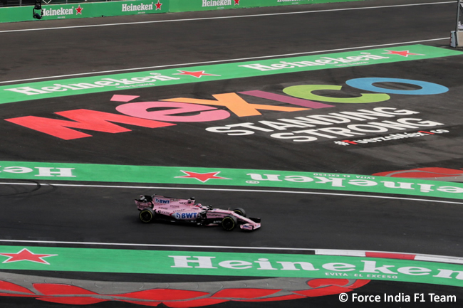 Sergio Pérez - Force India - Carrera - GP México 2017