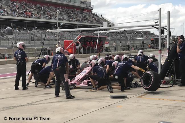 Sergio Pérez - Force India - Entrenamientos Libres - GP Estados Unidos 2017