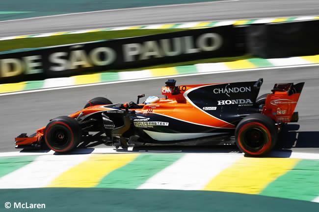 Fernando Alonso - McLaren - Viernes - Entrenamientos GP Brasil 2017