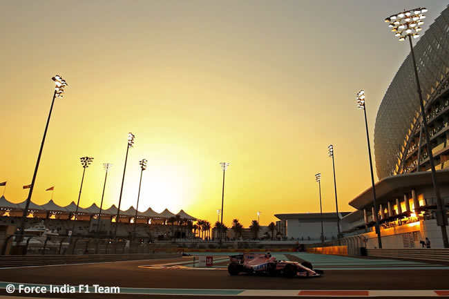 Force India - Entrenamientos - GP Abu Dhabi 2017