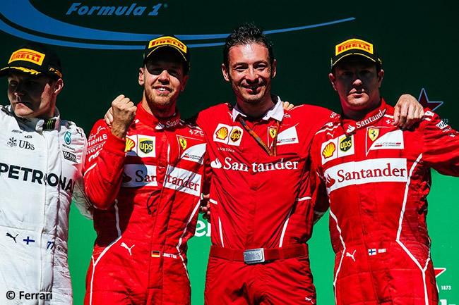 Sebastian Vettel - Kimi Raikkonen - Scuderia Ferrari - Valtteri Bottas - Podio GP Brasil 2017