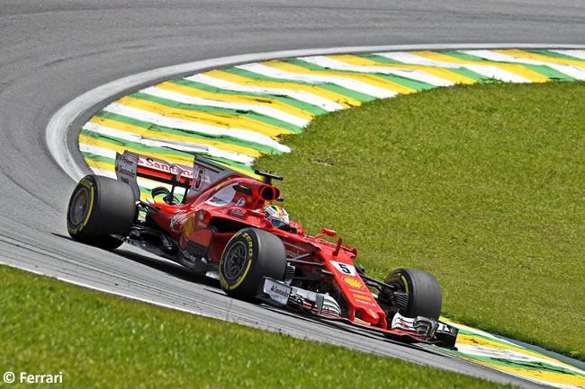 Sebastian Vettel - Scuderia Ferrari - Carrera - GP Brasil 2017