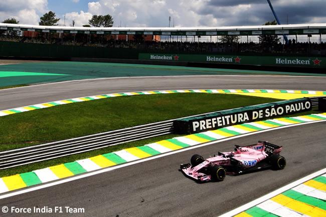 Sergio Pérez - Force India - Viernes - Entrenamientos GP Brasil 2017