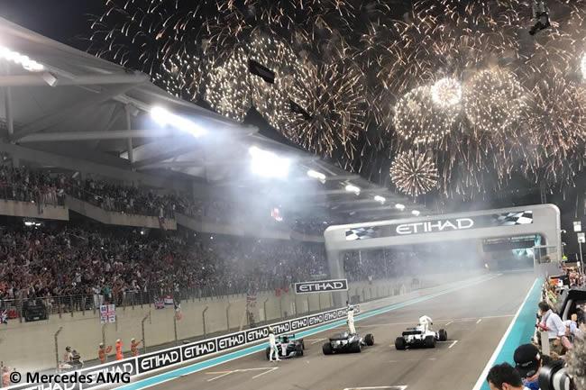 Valtteri Bottas - Lewis Hamilton - Mercedes AMG - Felipe Massa - FInal GP Abu Dhabi 2017