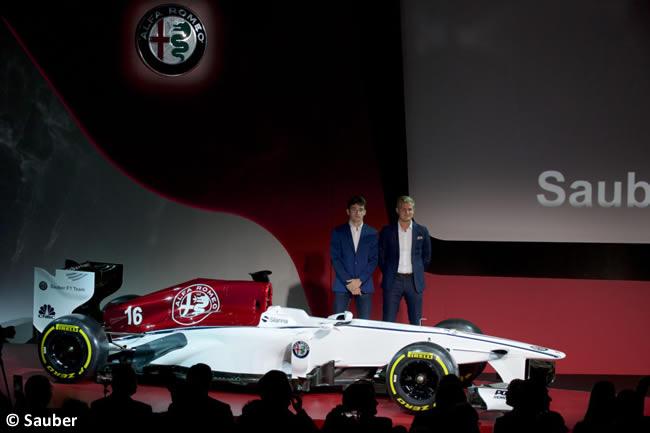 Presentación - Alfa Romeo - Sauber - Marcus Ericsson - Charles Leclerc - Alineación 2018