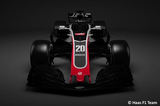 Haas F1 - VF18 - Frontal 2018