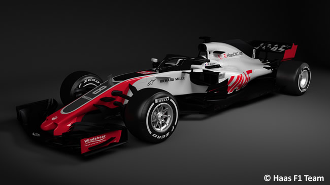 Haas F1 - VF18 - Frontal Parcial 2018