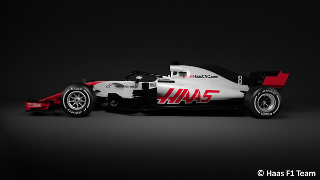Haas F1 - VF18 - Lateral 2018