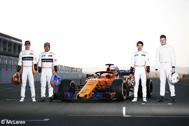 McLaren MCL33 Frontal - Pilotos 2018