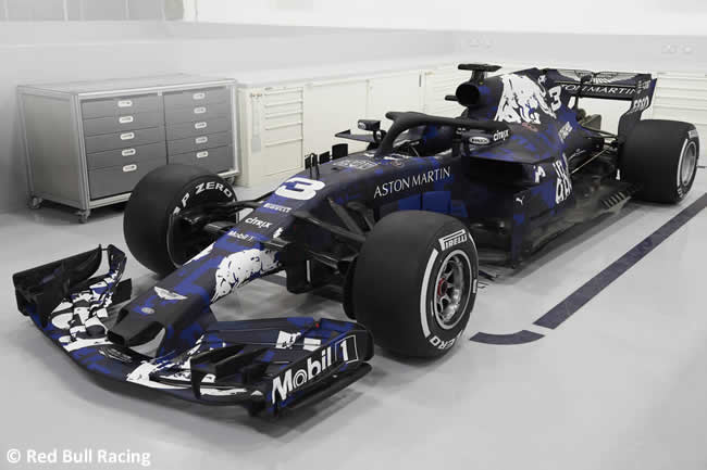 RB14 - Lateral - Red Bull Racing 2018