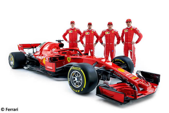 SF71H - Scuderia Ferrari - 2018 - Lateral - Kimi Raikkonen - Sebastian Vettel