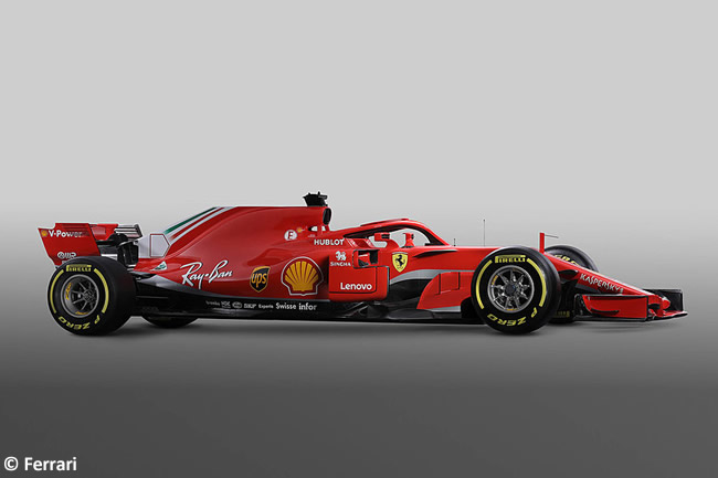 SF71H - Scuderia Ferrari - 2018 - Lateral