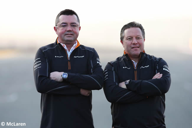 McLaren - Zak Brown y Eric Boullie