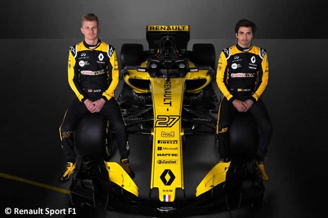 Renault Sport - 2018 - RS18 - Frontal - Carlos Sainz - Nico Hulkenberg
