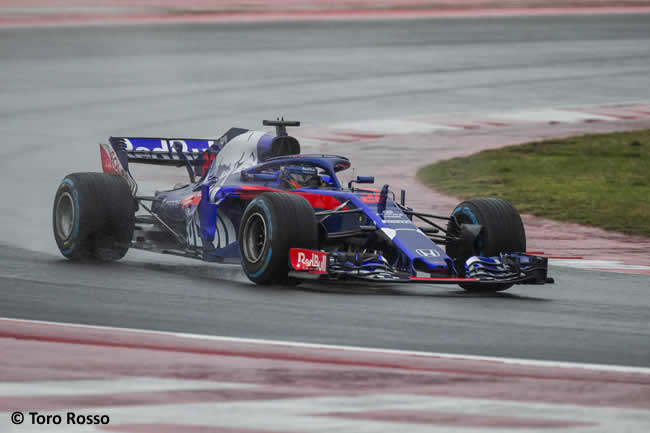 Scuderia Toro Rosso - STR13 - Lateral - Pista - Brendon Hartley