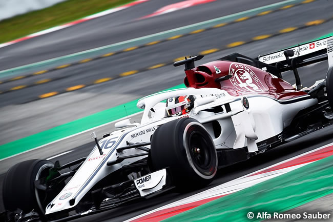 Test Barcelona 1 - Día 2 - Alfa Romeo Sauber - C37 - Charles Leclerc
