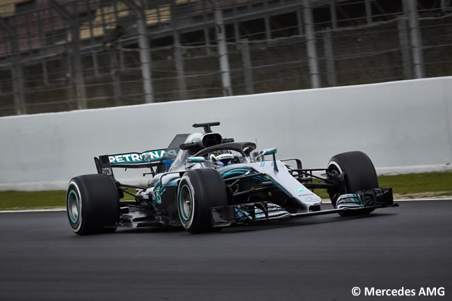 Test Barcelona 1 - Día 2 - Mercedes - Valtteri Bottas
