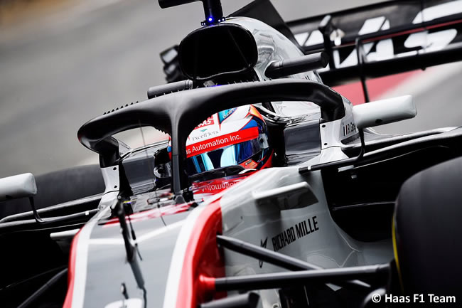Test Barcelona 1 - Día 1 - Haas F1 - VF18 - Romain Grosjean