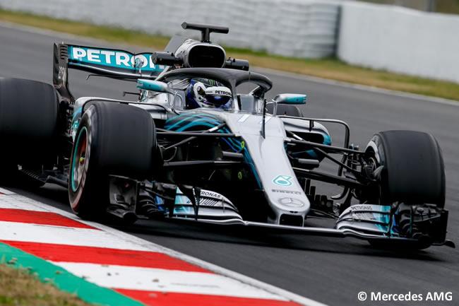 Test Barcelona 1 - Día 1 - Mercedes AMG - W09 - Valterri Bottas