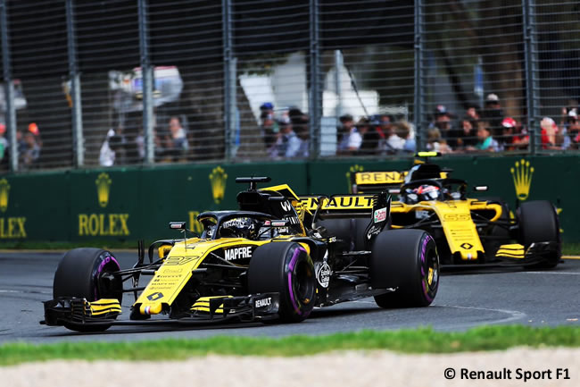 Nico Hulkenberg - Carlos Sainz - Renault Sport - Carrera - Gran Premio de Australia 2018