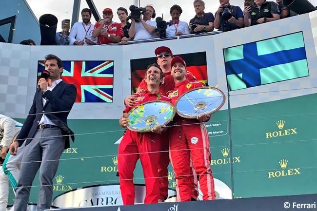 Sebastian Vettel - Kimi Raikkonen - Scuderia Ferrari - Carrera - Gran Premio de Australia 2018