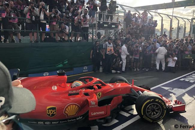 Sebastian Vettel - Scuderia Ferrari - Carrera - Gran Premio de Australia 2018